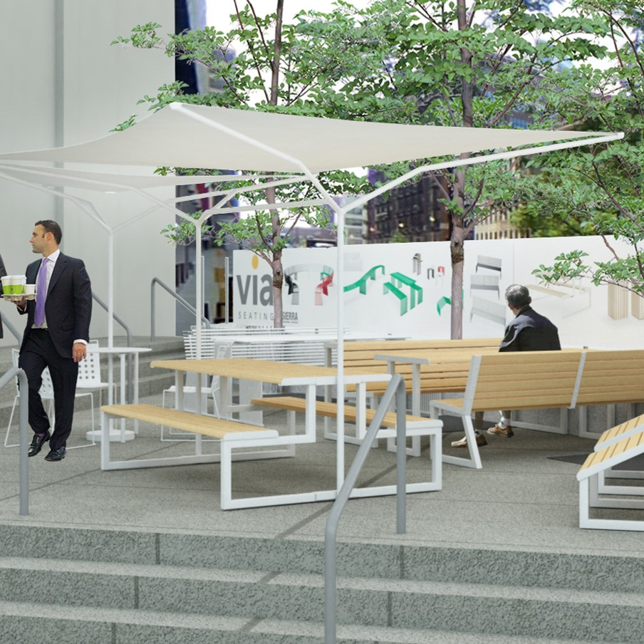 Via Seating Outdoor Seating Represented by Inspire Contract Group